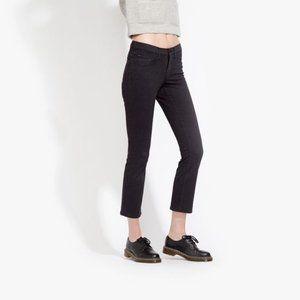 AYR black Ciggy crop straight leg stretch jeans